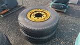 (2) 11r20 tires and rims