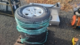 (4) 255 75 15 tires and rims