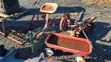 Lot - Wagon, misc. 3 point hitch attachments