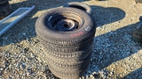 (4) 205 75 14 tires and rims