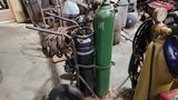 Torch cart with acetyline amd oxygen tank