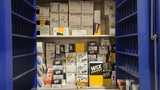 Wix filters amd spark plug cabinet with contents