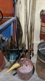 Hamd tools and gas can