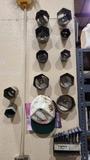 Wall lot sockets and t handles