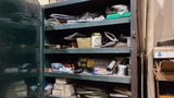 Contents of welding cabinet on wall