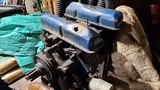 Ford v8 motor with stand