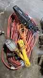 Lot - electrical cords, lights, etc