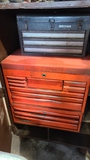 (2) tool boxes in rolling cart