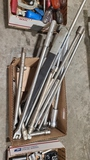 Lot - socket wrenches, extension bars