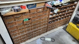 Lot - parts bins with contents