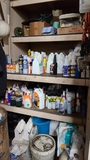 Wall lot - cleaning supplies, shop supplies