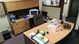 Front office desk and contents