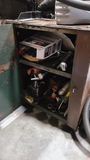 Lube cabinet with contents