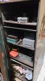 Cabinet with Welding supplies, drill bits