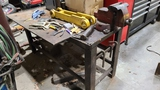 Shop table with vise