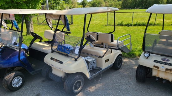 Club car electric golf cart with charger