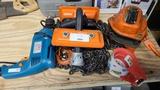 Lot - drills, chain hoist, etc