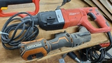 Bauer drill and rigid angle grinder