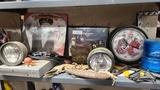 Shelf lot memorabilia, dvd player, etc