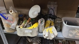Shelf lot - clamps, light, assorted tooling