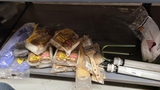 Shelf lot - assorted paint rollers, gloves, etc
