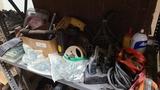 Shelf lot - assorted tooling, drills, etc