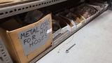Shelf lot - assorted metal coils, rubber grommets