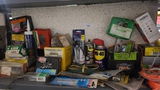 Shelf lot - assorted tools, and supplies