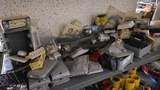 Shelf lot - assorted electrical supplies