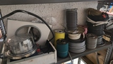Shelf lot - assorted electrical wire and supplies
