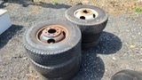(6) 235 85 16 tires and rims