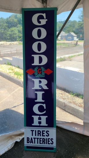 Vintage Goodrich Tires And Batteries Sign