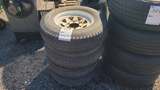 (4) 225/75/75 tires and rims
