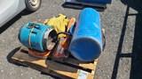 Pallet lot- stihl demo saw, fall harness,