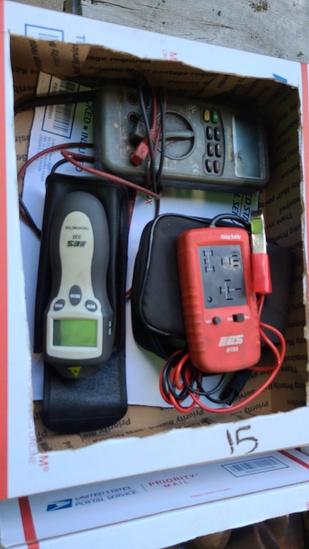 Lot - multimeter, relay tester, tachometer