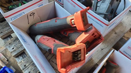 Box lot - 3x milwaulkee right angle drills