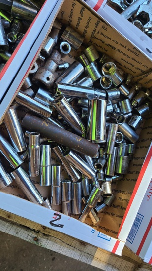 Large selection of assorted sockets