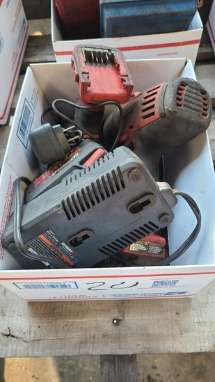 Box lot - 2x milwaulkee drill and charger