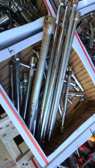 Large assortment of extension bars