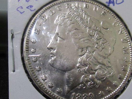 1889 CC MORGAN DOLLAR AU Est: 9000