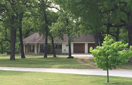 Tract 3: 1700' Brick 2 Bedroom Home nestled among mature Oaks and Elms on 3 Acres