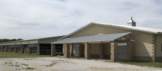 Tract 1: Custom Show Barn and Covered Arena on 9.7 acres