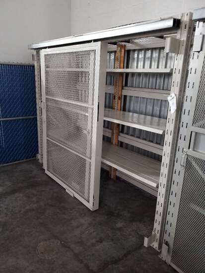8ft Ridg U Rack Wearhouse Rack With Two Sliding Wire Mesh Doors