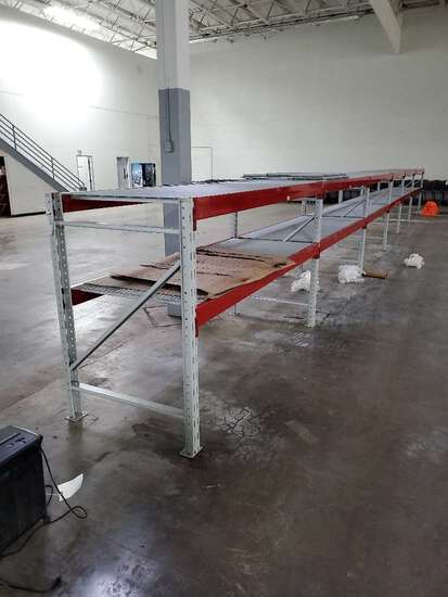 (6) Sections Of Ridg U Rack Wearhouse Racking