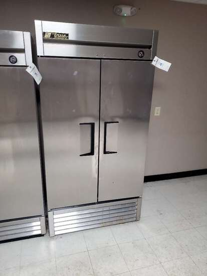 True Model Number: T-35, Two Door Commercial Stainless Steel Refrigerator