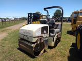 INGERSOLL RAND DD28HF VIBRATORY ROLLER, S/N 167260, 47'' SMOOTH DOUBLE DRUM, 3853 MTR HRS