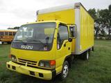 2001 IZUZU BOX TRUCK, VIN 4KLB4B1R41J803640, 350 CHEVY ENG, A/T, 15' BED