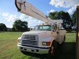 1999 FORD F SERIES BKT TRK, VIN 3FENF80C1XMA16610, CUMMINS CFL ENG, A/T, 14' BED W/OUTRIGGERS,