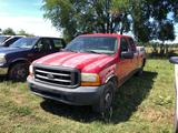 1999 FORD F350 XL SUPER DUTTY, VIN 1FTSR30F1XFL99671, 7.3L POWERSTROKE ENG, A/T, TOOLBOXES, 294,661