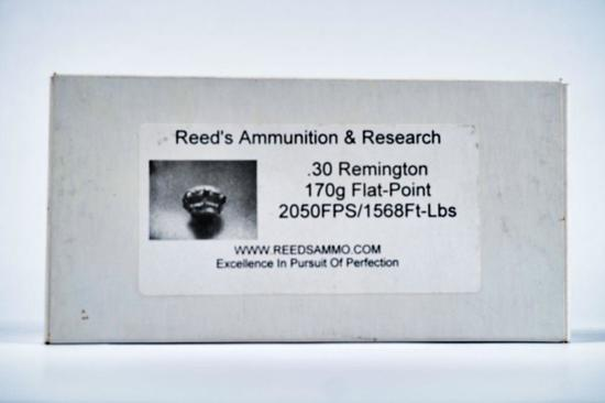 20 ROUNDS REEDS AMMUNITION 30 REMINGTON 150 GR CORE-LOCKT